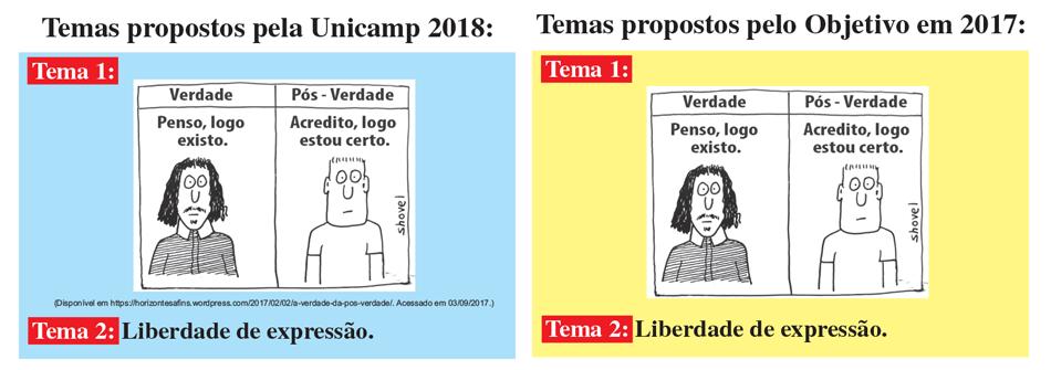 Objetivo antecipa temas de redação da Unicamp 2018