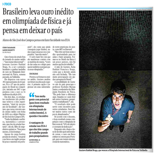 Folha de S. Paulo, Cotidiano, 21/07/2011